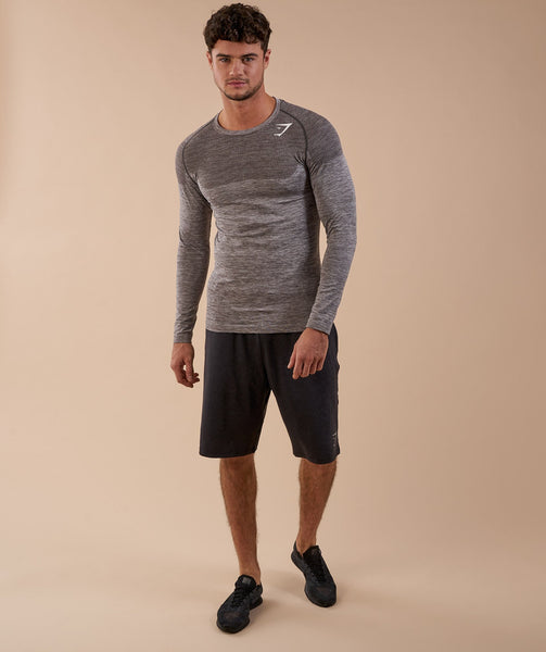Gymshark Phantom Seamless Long Sleeve T-Shirt - Slate Grey Marl