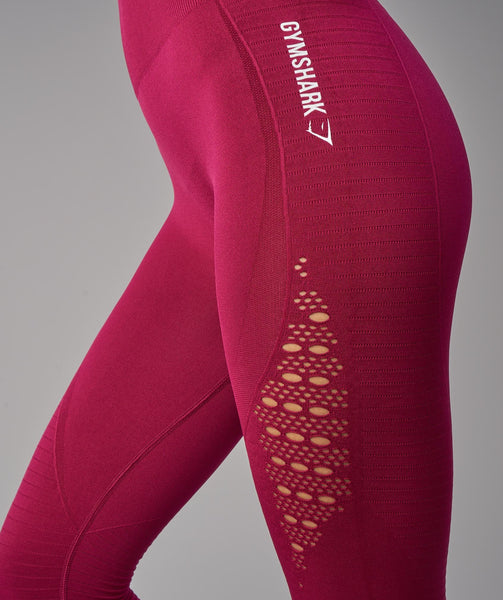 Gymshark Energy Seamless High Waisted Cropped Leggings - Beet 3