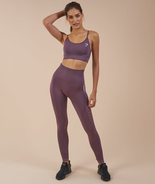 Gymshark Energy Seamless Sports Bra - Purple Wash 3