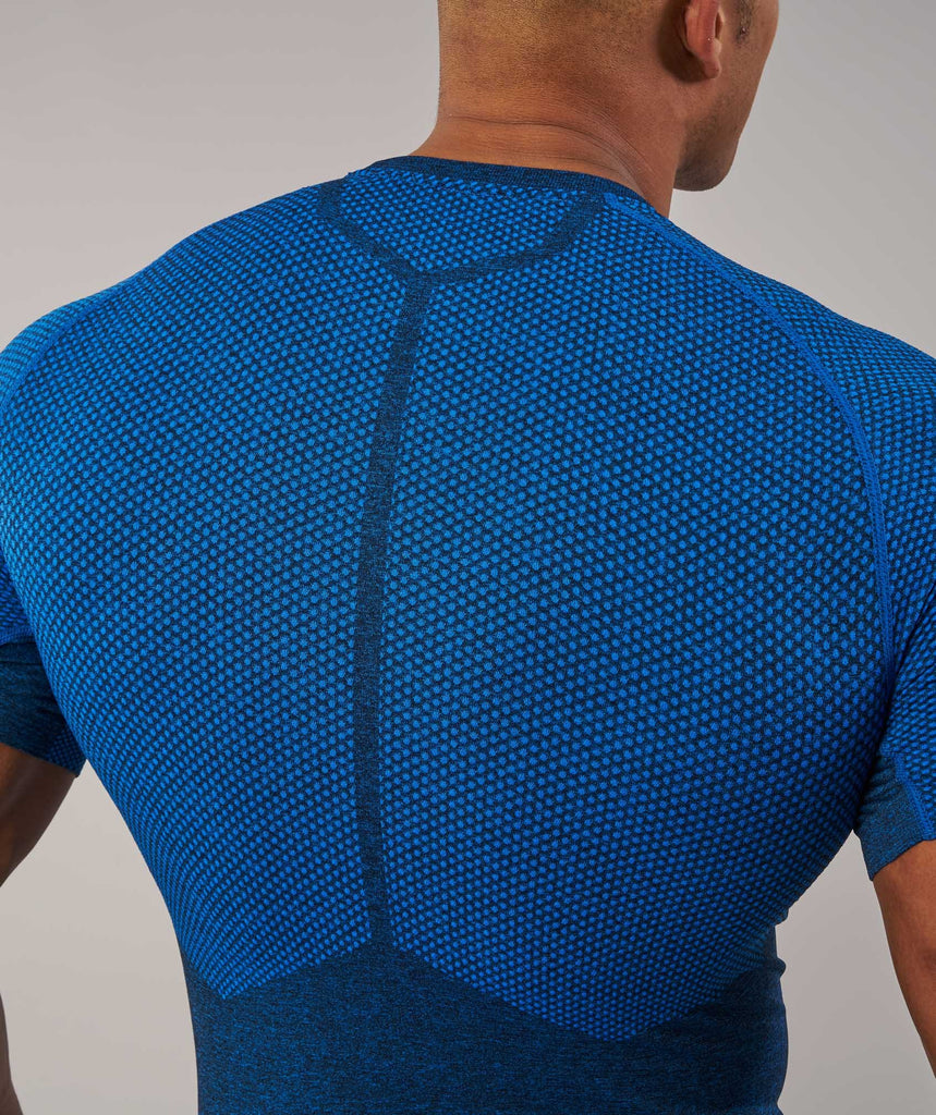 Gymshark Performance Seamless T-Shirt - Dive Blue Marl 6