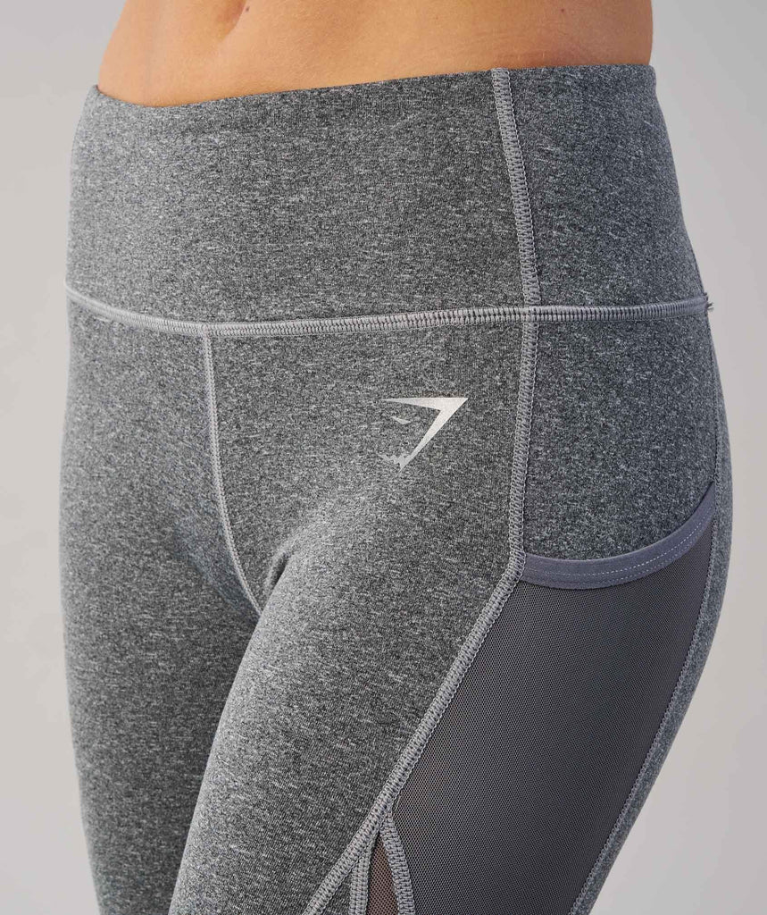 Gymshark Sleek Sculpture Leggings - Charcoal Marl 6