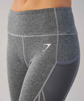 Gymshark Sleek Sculpture Leggings - Charcoal Marl 12