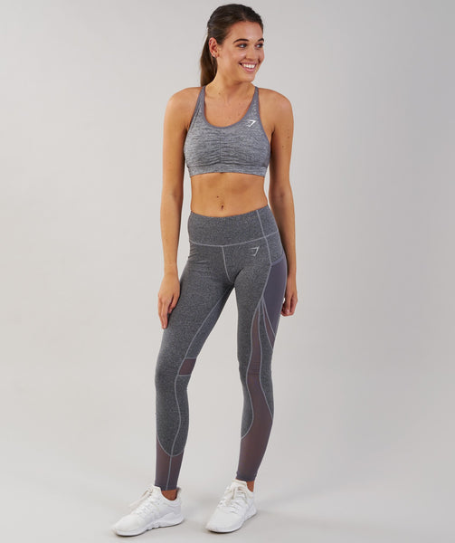 Gymshark Sleek Sculpture Leggings - Charcoal Marl 3