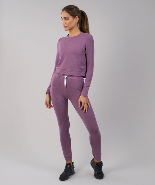 Gymshark Solace Sweater - Purple Wash Marl 4