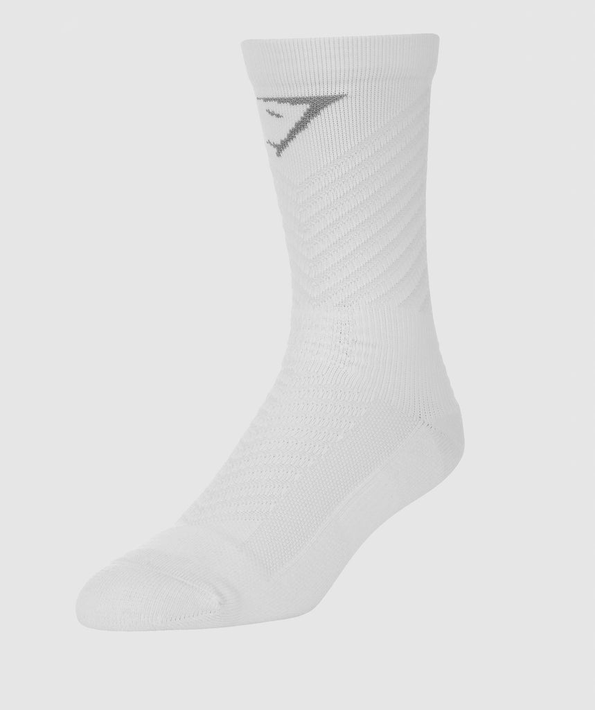 Gymshark Thick Tech Crew Socks - White 1