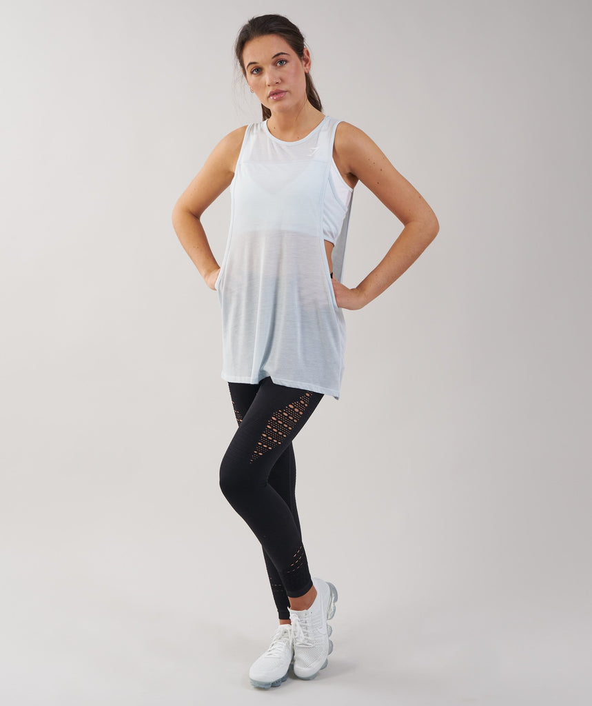 Gymshark Two in One Tank - Ice Blue 4