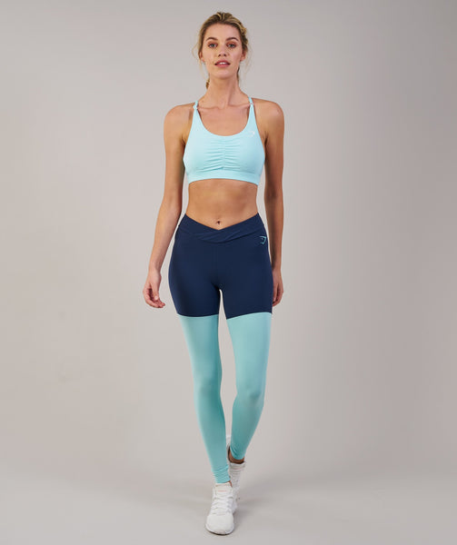 Gymshark TwoTone Leggings - Sapphire Blue Marl/Pale Turquoise Marl 2