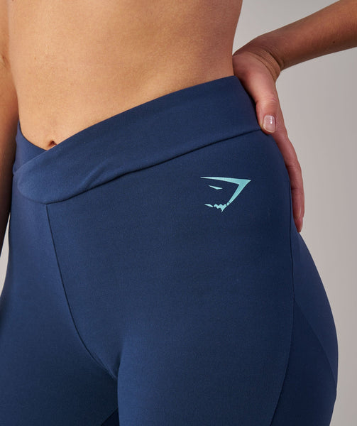 Gymshark TwoTone Leggings - Sapphire Blue Marl/Pale Turquoise Marl 4