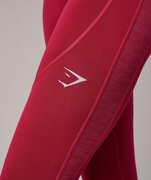 Gymshark Winter Running Leggings - Beet 4
