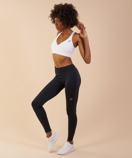Gymshark Winter Running Leggings - Black 4