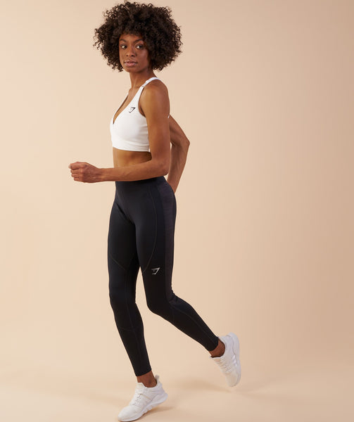 Gymshark Winter Running Leggings - Black 2