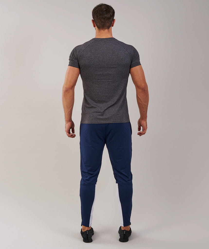 Gymshark Apollo T-Shirt - Charcoal Marl/White 2
