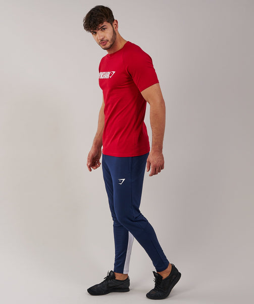 Gymshark Apollo T-Shirt - Deep Red/White 2
