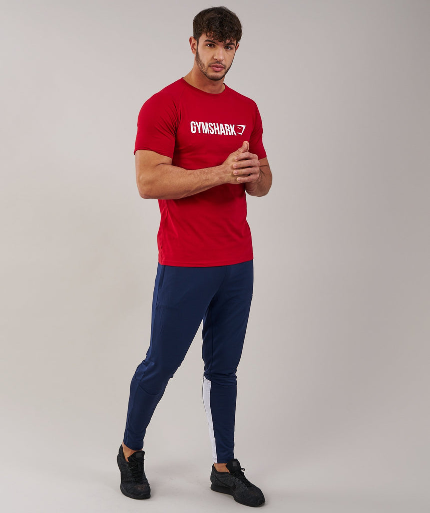 Gymshark Apollo T-Shirt - Deep Red/White
