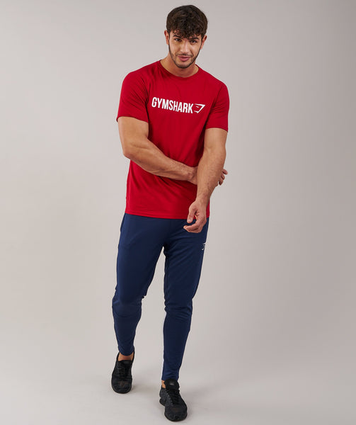 Gymshark Apollo T-Shirt - Deep Red/White 3