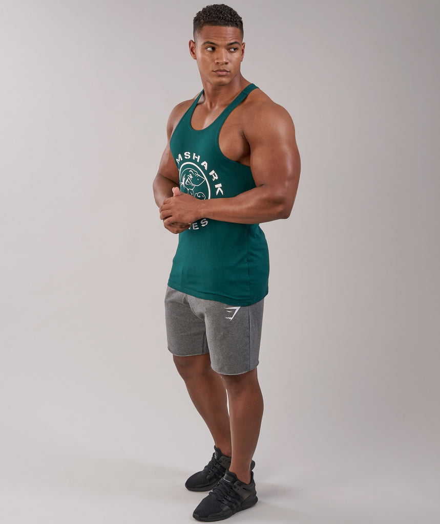 Gymshark Fitness Stringer - Forest Green