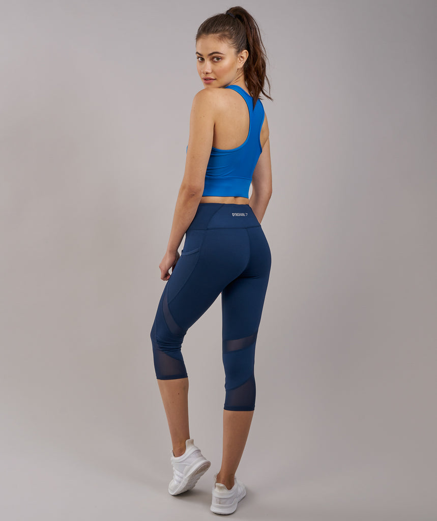 Gymshark Serene Sports Crop Top - Blueberry