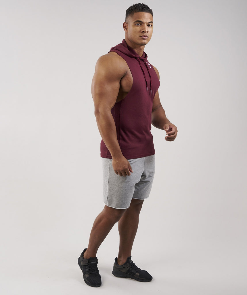 Gymshark Drop Arm Sleeveless Hoodie - Port