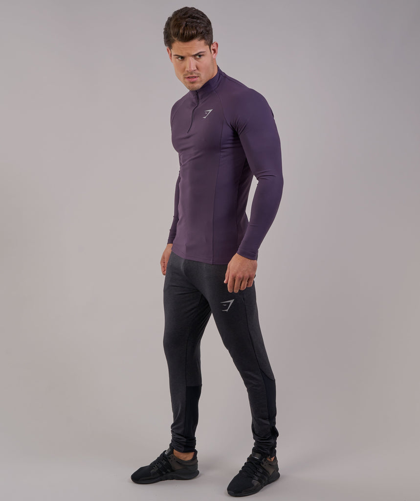 Gymshark Edge 1/4 Zip Pullover - Nightshade Purple
