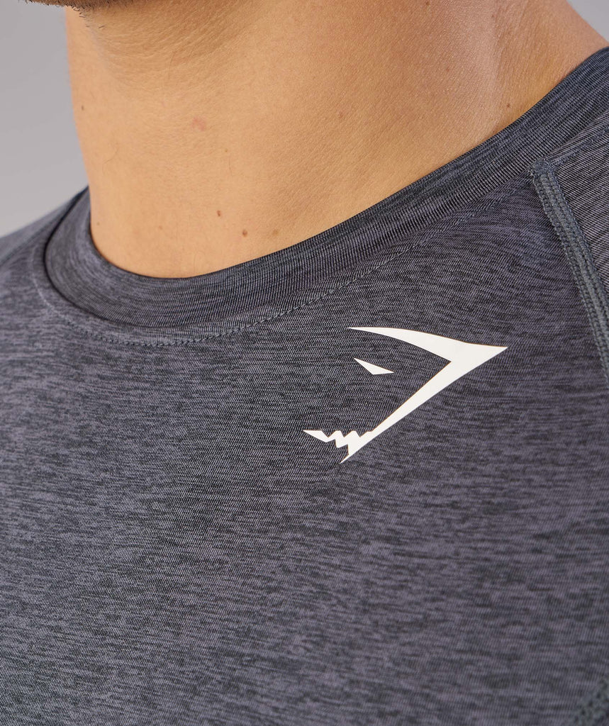 Gymshark Element Baselayer Short Sleeve Top - Charcoal Marl 6