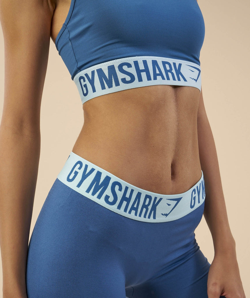 Gymshark Fit Sports Bra - Petrol Blue/Pale Turquoise 6