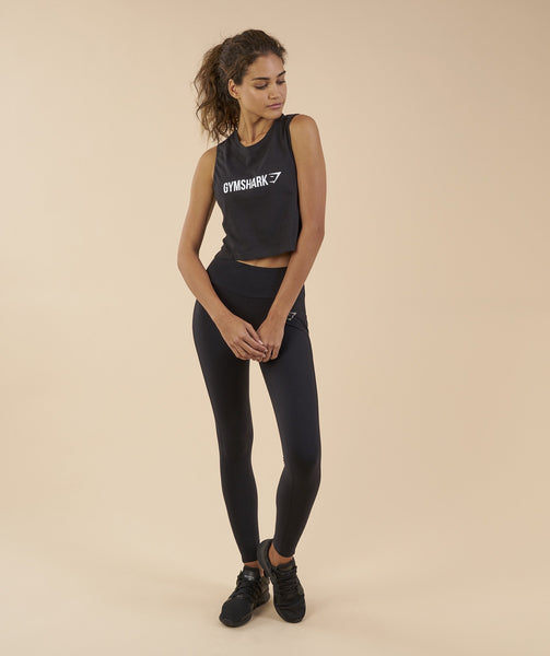 Gymshark Crop Mesh Back Tank - Black 3
