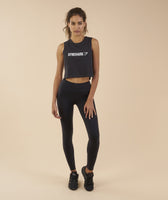 Gymshark Crop Mesh Back Tank - Black 7