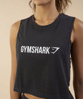 Gymshark Crop Mesh Back Tank - Black 12