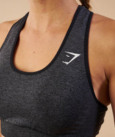 Gymshark Vital Seamless Sports Bra - Black Marl 12