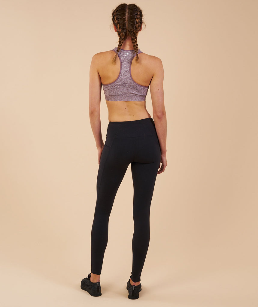 Gymshark Vital Seamless Sports Bra - Purple Wash Marl