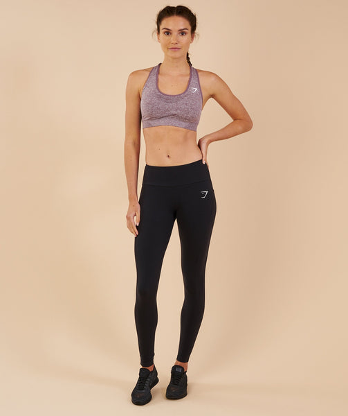 Gymshark Vital Seamless Sports Bra - Purple Wash Marl 2