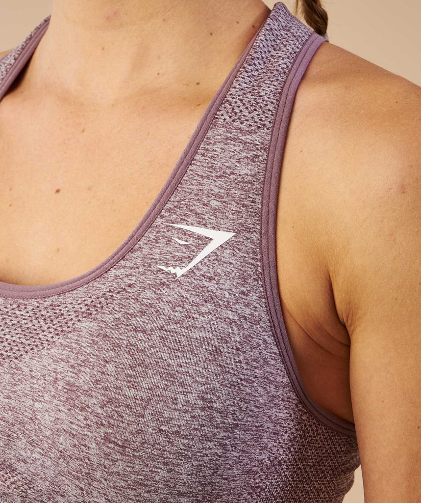 Gymshark Vital Seamless Sports Bra - Purple Wash Marl 6