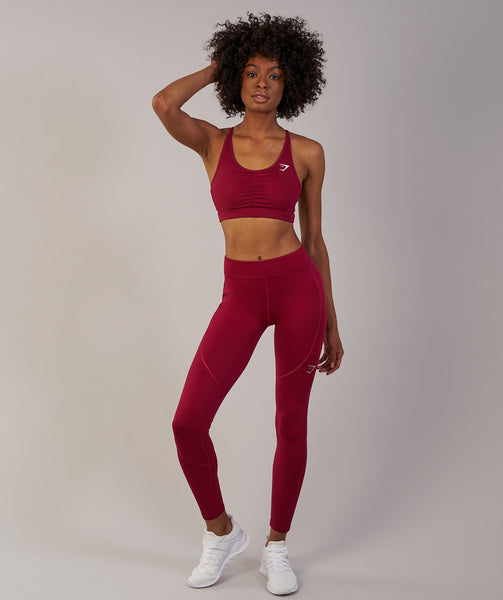 Gymshark Winter Running Leggings - Beet 2