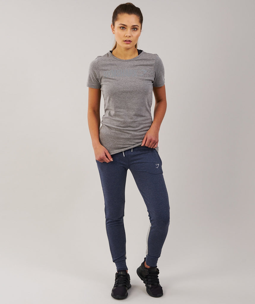 Gymshark Women's Apollo T-Shirt - Slate Grey Marl 1