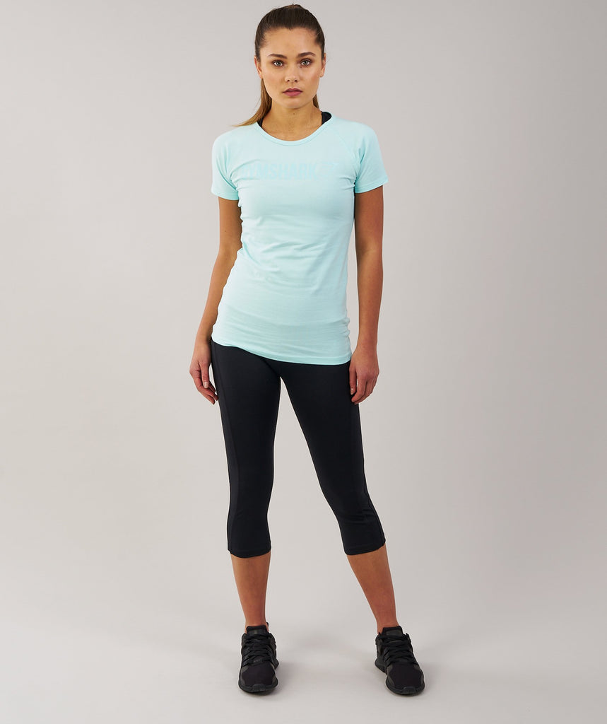 Gymshark Women's Apollo T-Shirt - Pale Turquoise 1