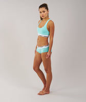 Gymshark Womens Jersey Briefs 2pk - Mint Green 10