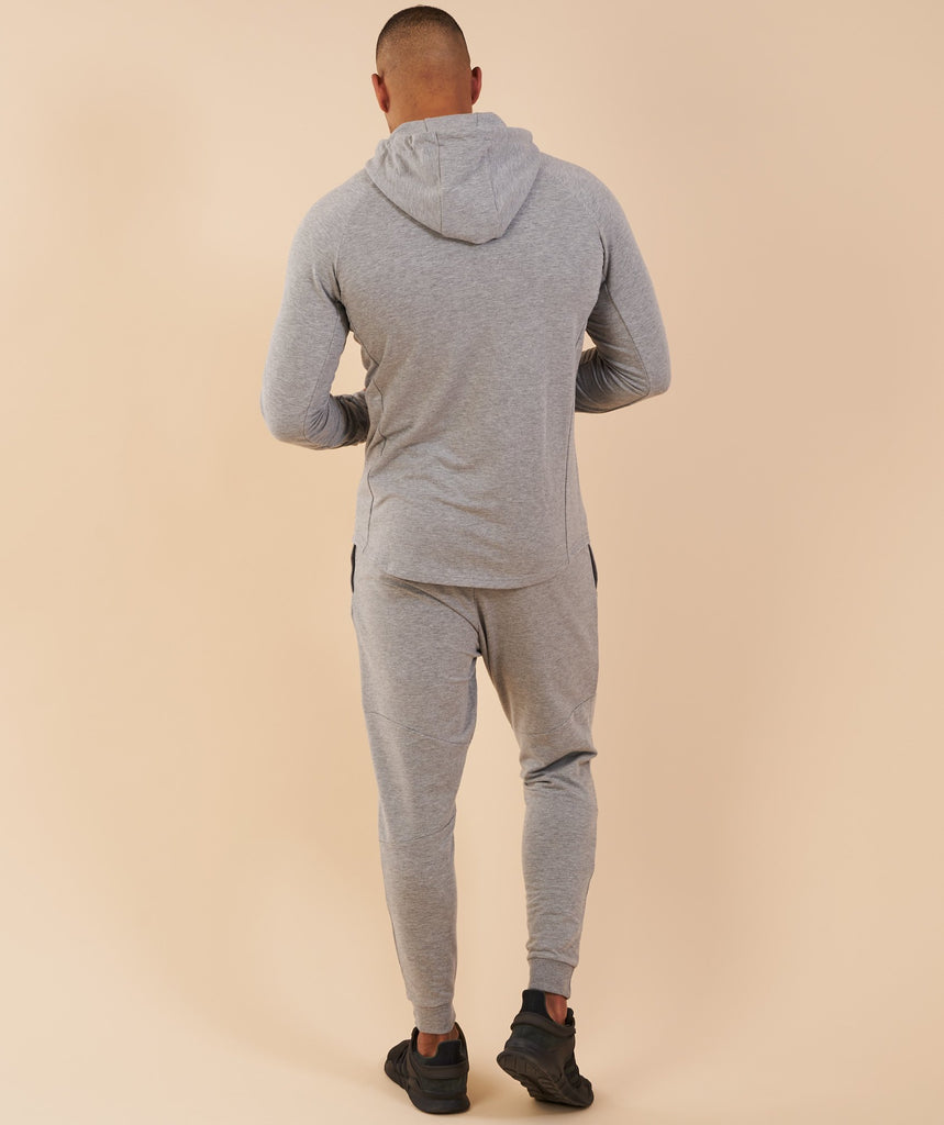 Gymshark Eaze Zip Hoodie - Light Grey