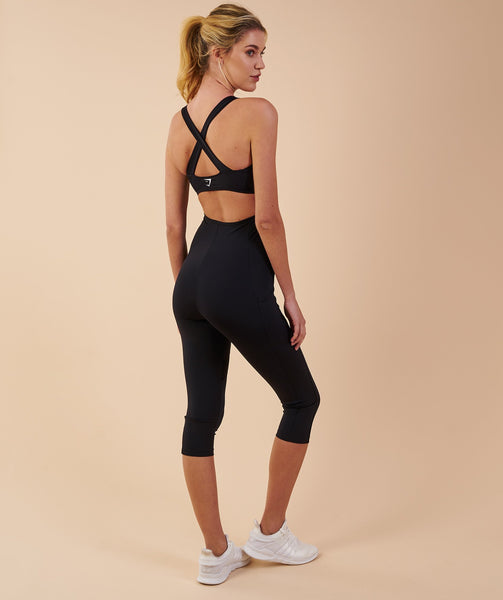 Gymshark Sports One Piece 7/8 - Black 2
