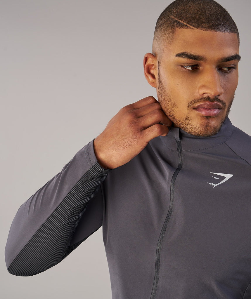 Gymshark Gravity Track Top - Charcoal/Black 5