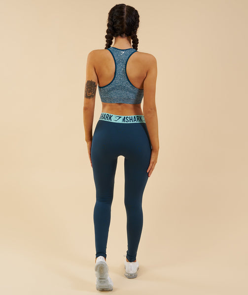 Gymshark Seamless Sports Bra - Deep Teal 4