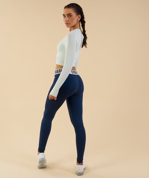 Gymshark Seamless Long Sleeve Crop Top - Sea Foam Green 2