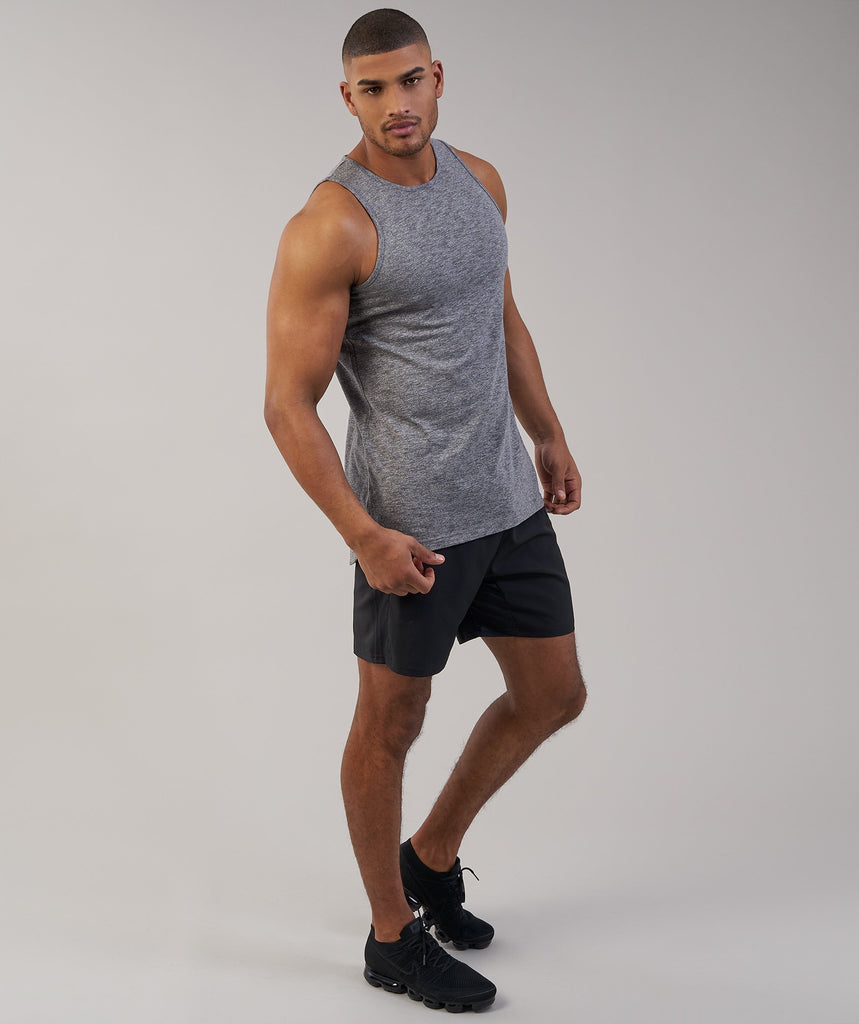 Gymshark Heather Tank - Charcoal Marl 6