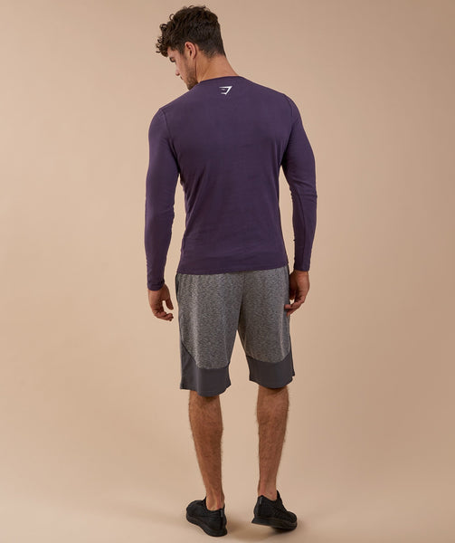 Brushed Cotton Long Sleeve T-Shirt - Nightshade Purple 2