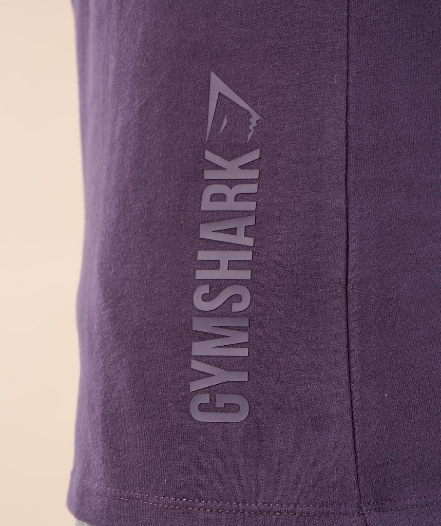 Brushed Cotton Long Sleeve T-Shirt - Nightshade Purple 6