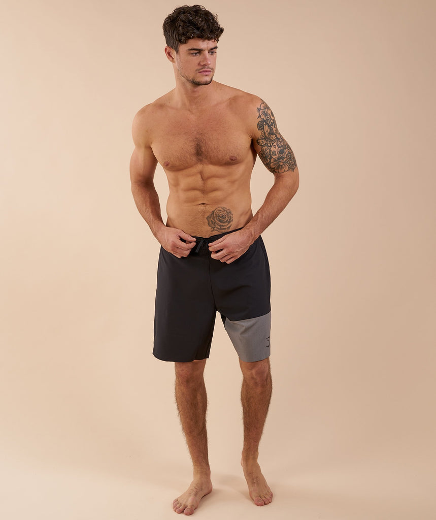 Gymshark Board Shorts - Black/Slate