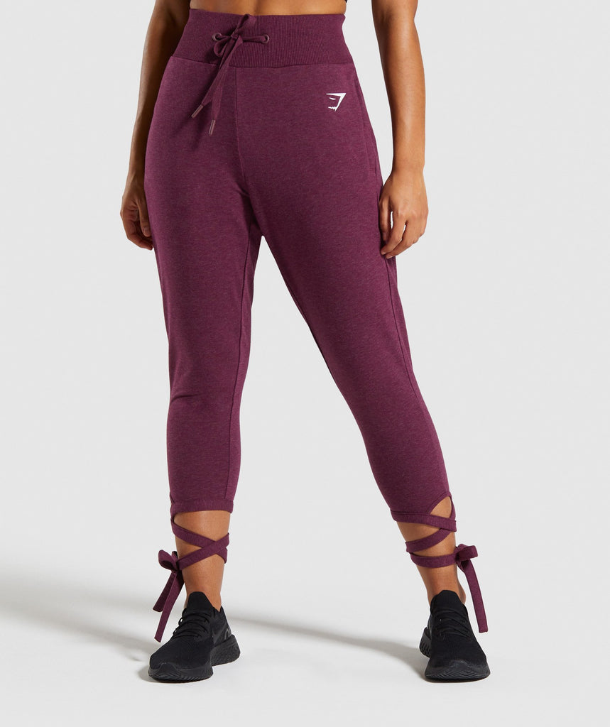 Gymshark Ark High Waisted Joggers - Berry Red 1