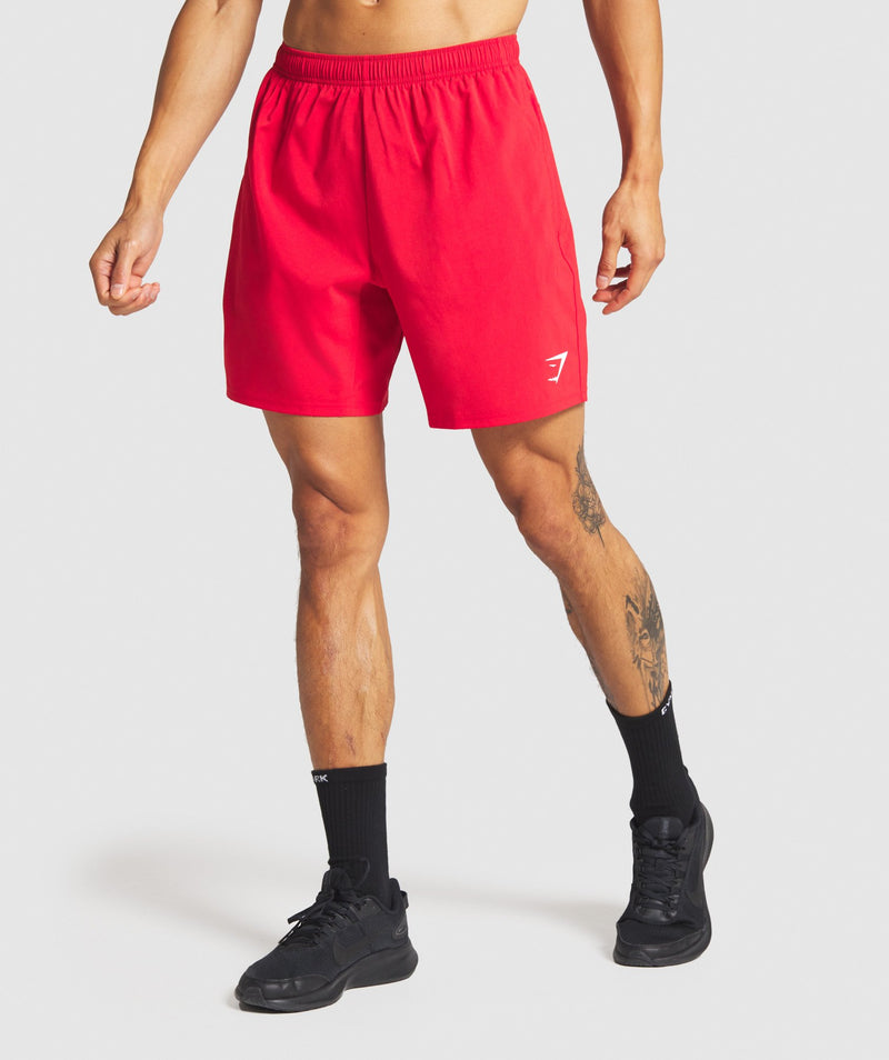 Gymshark Arrival Shorts - Red