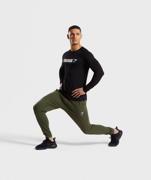 Gymshark Apollo Long Sleeve T-Shirt - Black/White 3