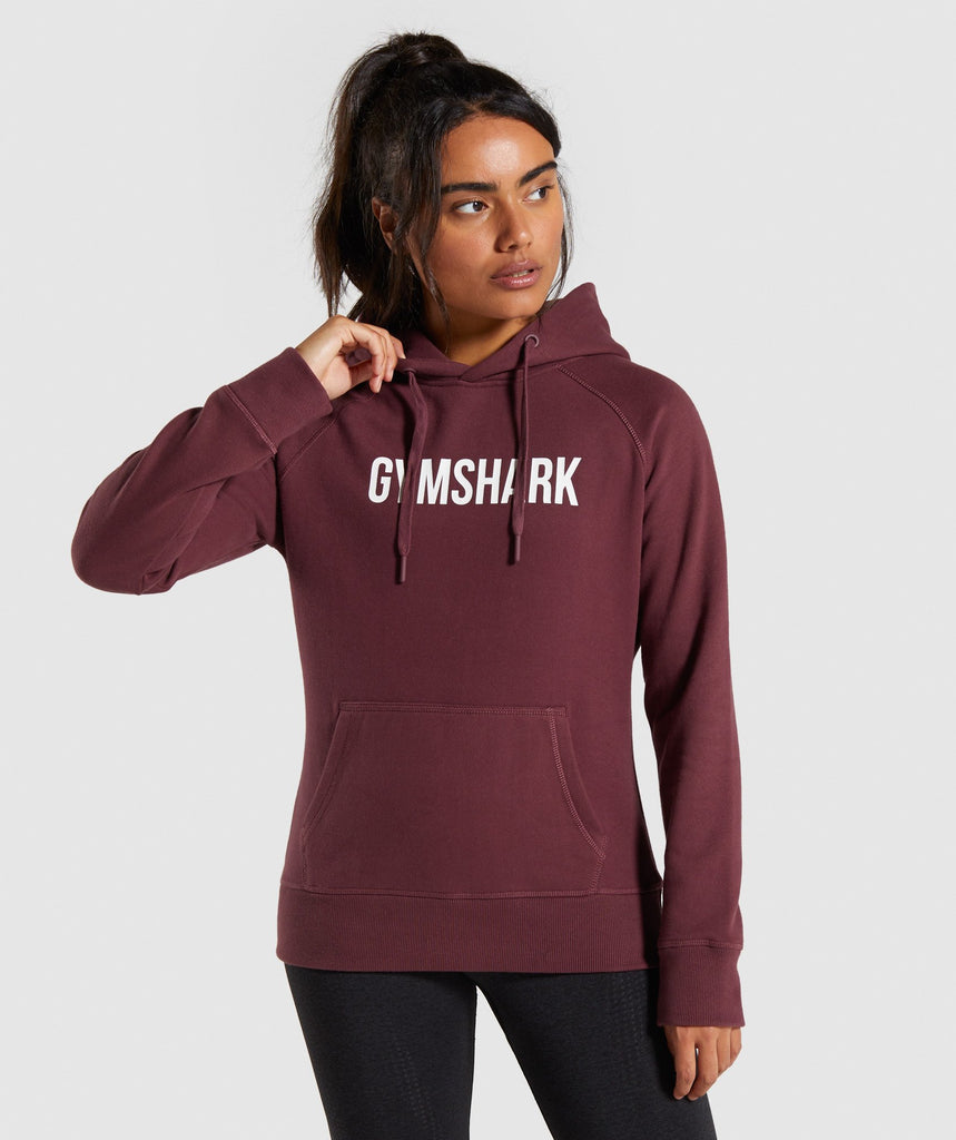 Gymshark Apollo Hoodie - Berry Red 1
