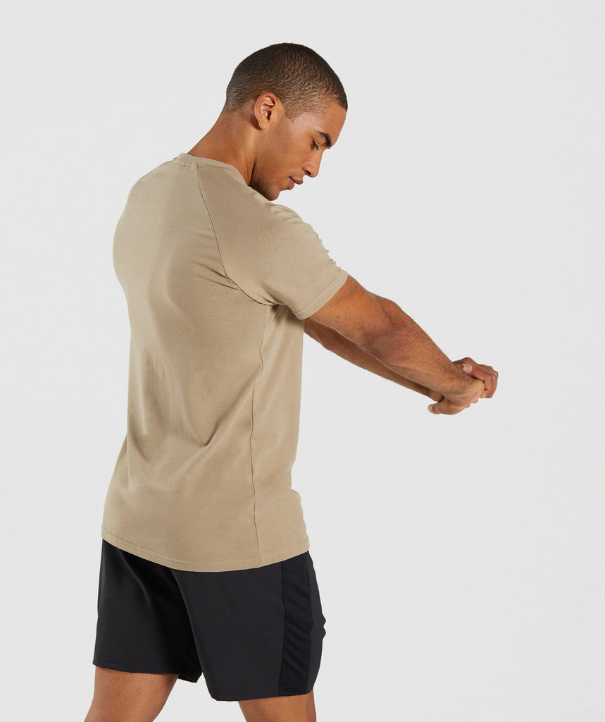 Gymshark Apollo T-Shirt - Driftwood Brown 2